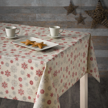 Festive flakes tablecloth setting