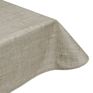 Pebble Grey Teflon Coated Tablecloth