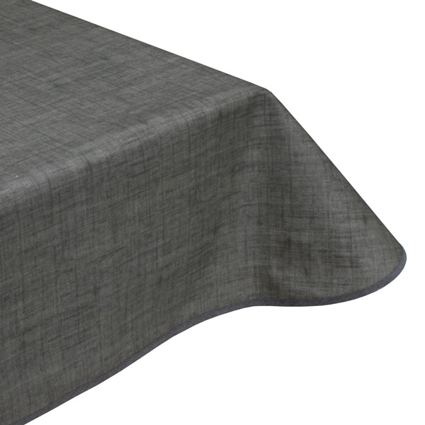 Graphite Grey Teflon Coated Tablecloth