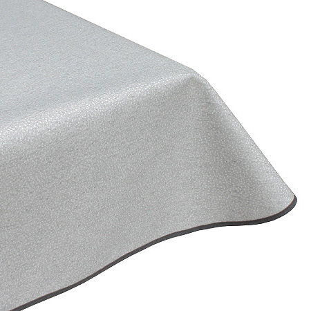 Speckled silver acrylic tablecloth