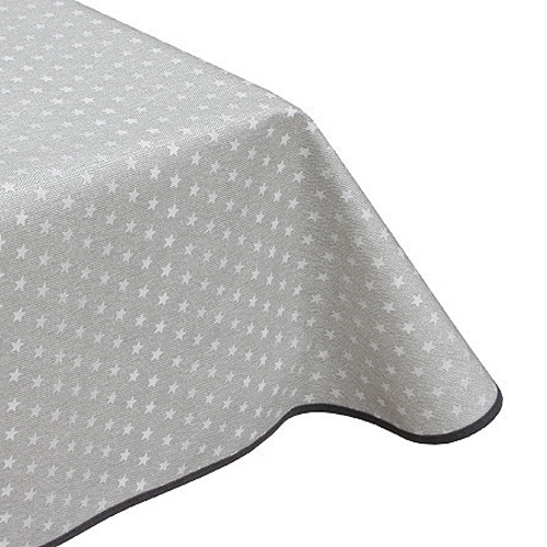 Stars Heather Grey Acrylic Tablecloth