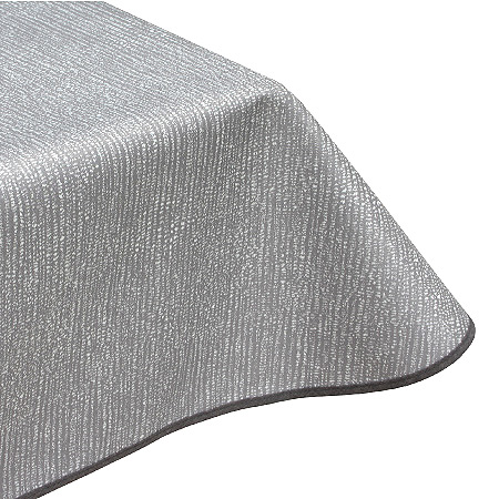 Speckled lines grey acrylic tablecloth
