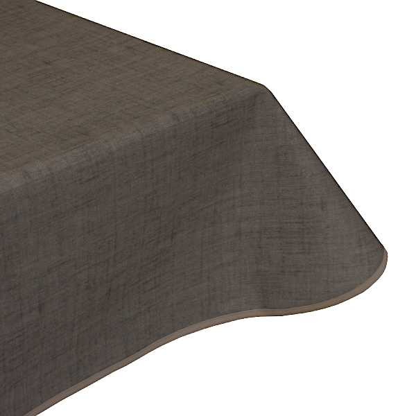 Natural Cafe Brown Teflon wipe clean tablecloth