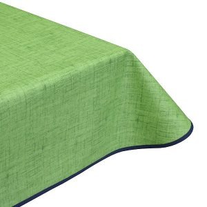 Natural Leaf Green Teflon Coated Tablecloth