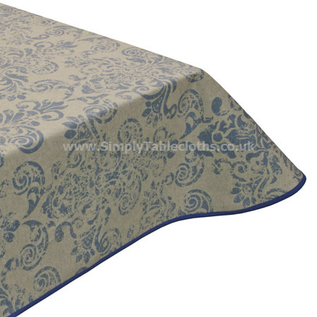 Imperial Blue Teflon Tablecloth