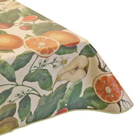 Fruit design teflon acrylic tablecloth