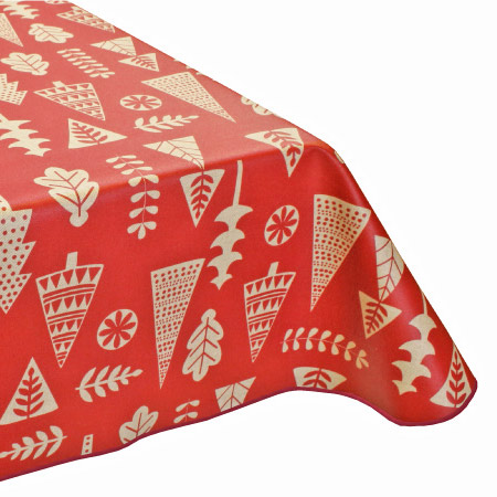 Red Modern Scandic teflon acrylic tablecloth