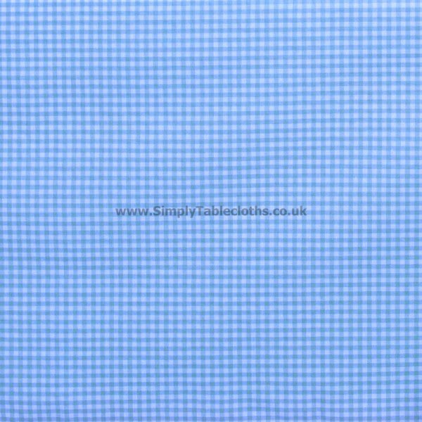Gingham Blue Teflon Coated Tablecloth