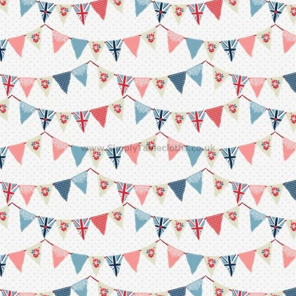 Bunting Oilcloth Tablecloth
