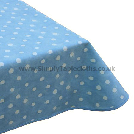 Comet Blue Dots Teflon Tablecloth