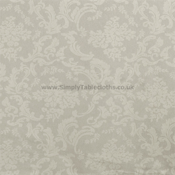 Damask Beige Teflon Coated Tablecloth