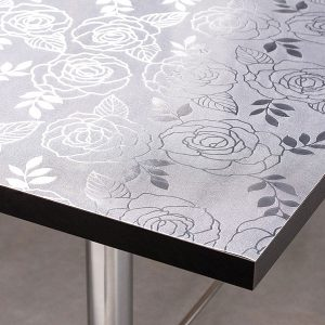 Frosted Rose Table Protector - Extra Thick