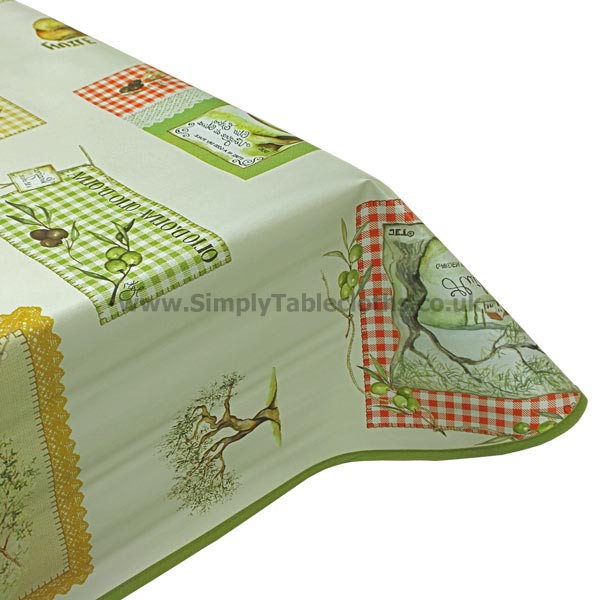 Olive Oil Vinyl Tablecloth