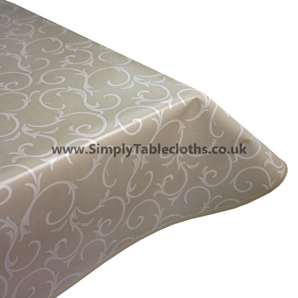 Smoke Scroll Vinyl Tablecloth