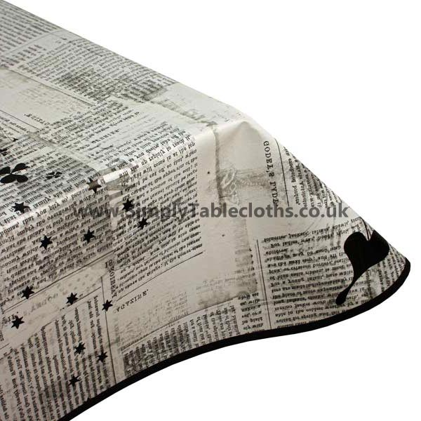 Newspaper Vinyl Tablecloth