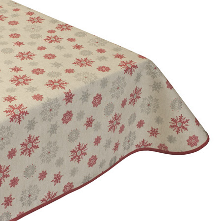 Festive flakes Christmas tablecloth