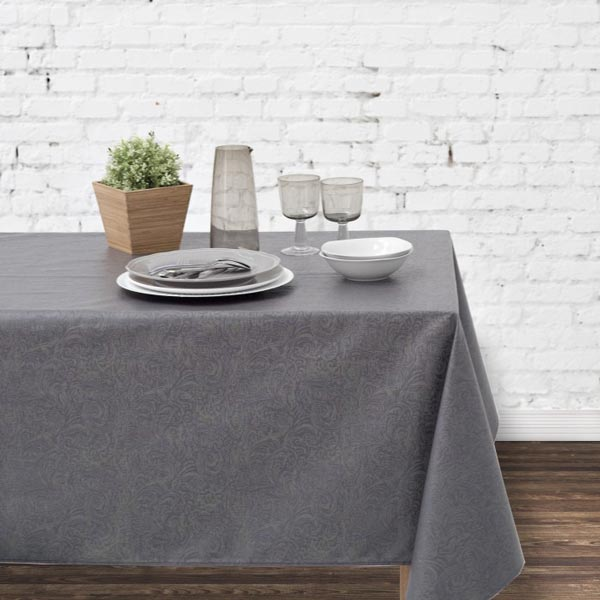 Florence Slate Teflon Tablecloth