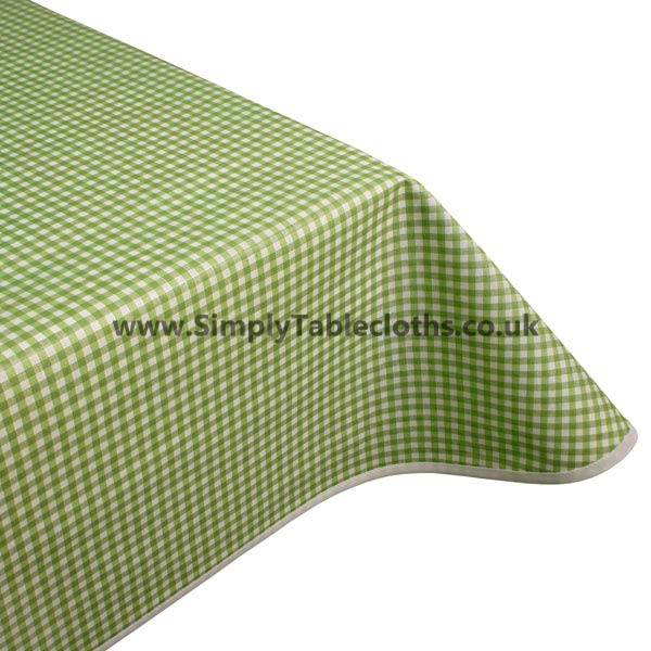 Gingham Green Teflon Coated Tablecloth