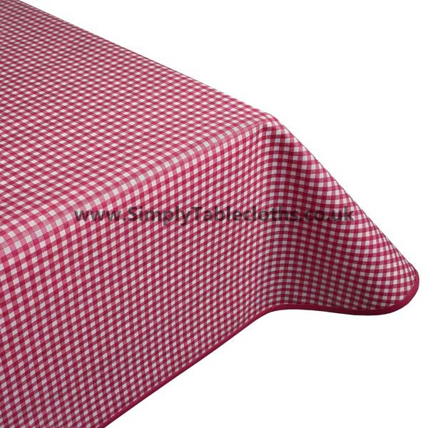 Gingham Red Teflon Coated Tablecloth