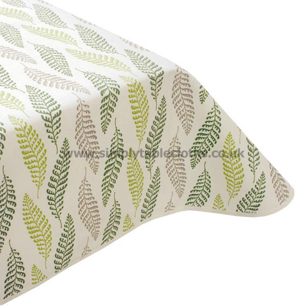 Green Fern Teflon Coated Tablecloth