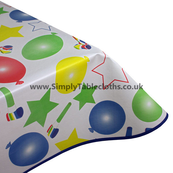 Party Time Vinyl Tablecloth