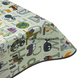 Alphabet Fun Vinyl Tablecloth