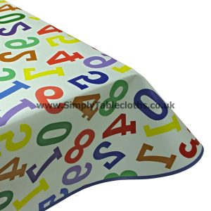Learn To Count Vinyl Tablecloth