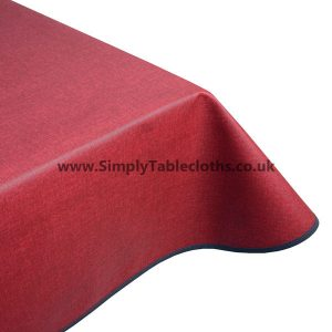 Natural Bordeaux Teflon Coated Tablecloth