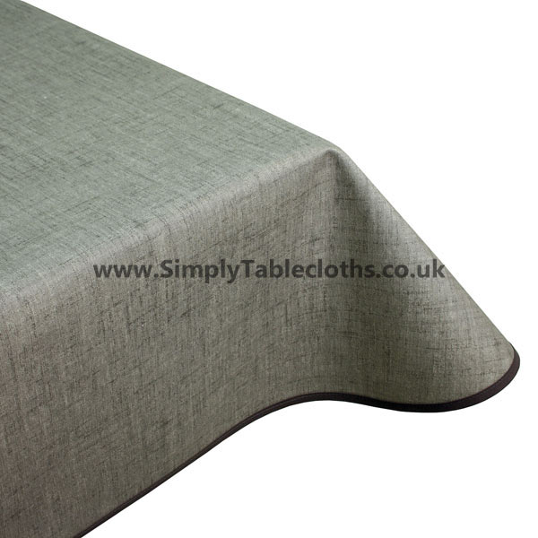 Natural Grey Teflon Coated Tablecloth
