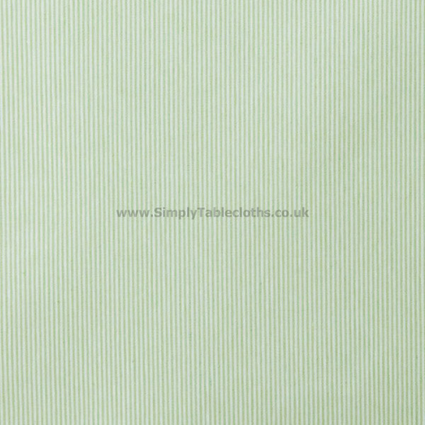 Lines Green Teflon Coated Tablecloth