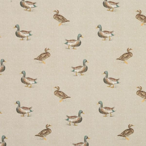 Mallard Ducks Natural Oilcloth Tablecloth