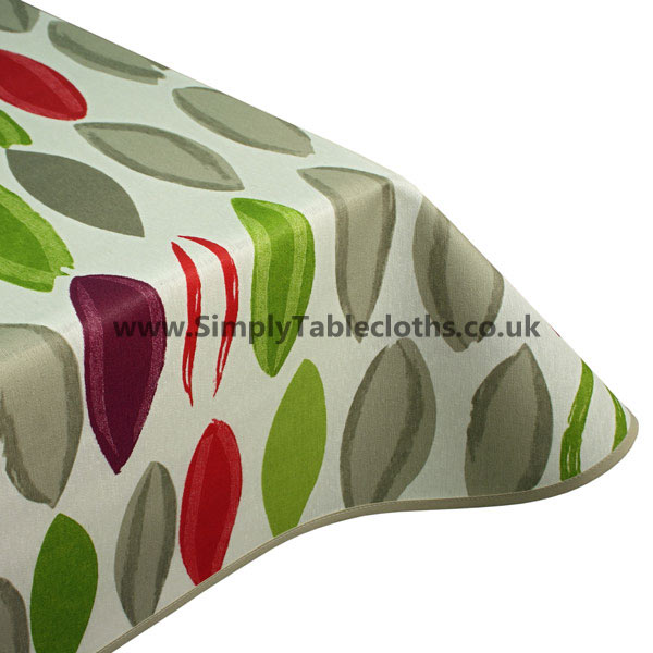 Multi Leaf Teflon Coated Tablecloth