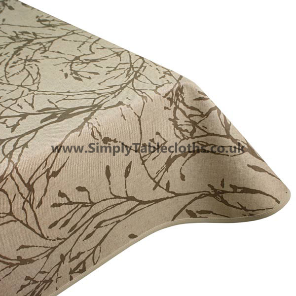 Nature Natural Teflon Coated Tablecloth
