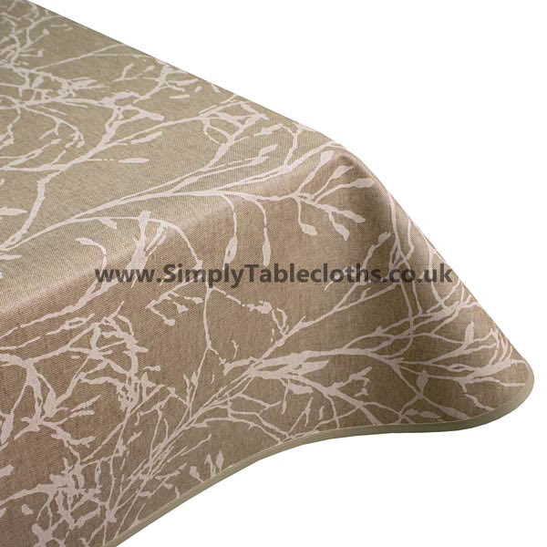 Nature White Teflon Coated Tablecloth