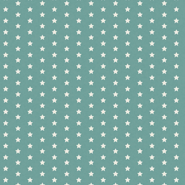 Twinkle Stars Teal Oilcloth Tablecloth