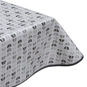 Marlene Grey Oilcloth Tablecloth