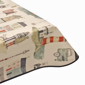 Seaside Matt Oilcloth Tablecloth