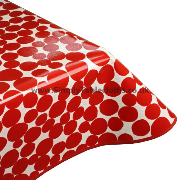 Fizz Red Oilcloth Tablecloth
