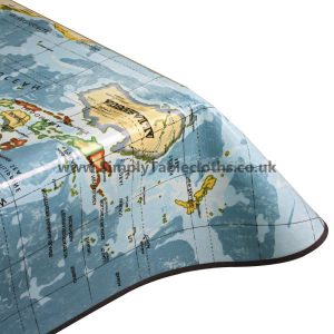 World Map Oilcloth Tablecloth