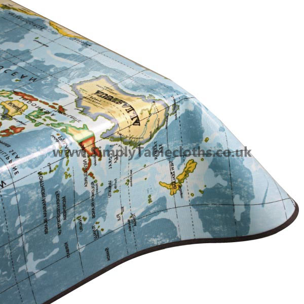 World map oilcloth tablecloth gumiabroncs