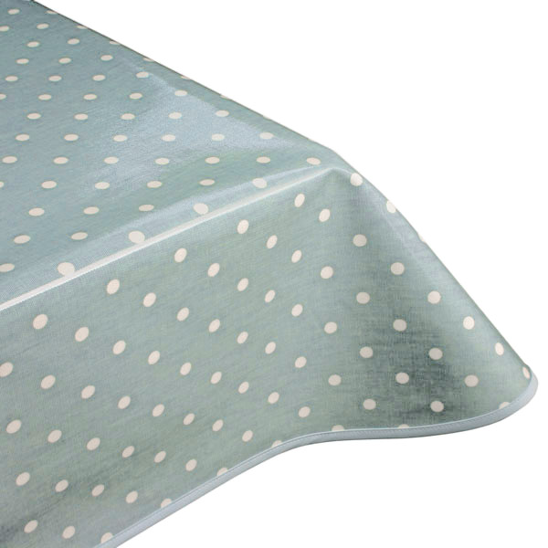 Polka Dot Azure Oilcloth Tablecloth