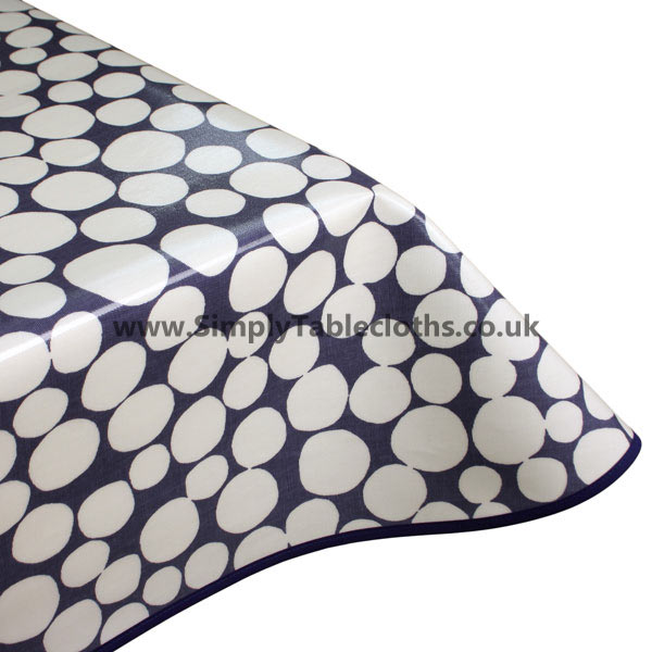 Fizzle Denim Oilcloth Tablecloth