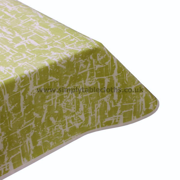 Abstract Soft Lime Oilcloth Tablecloth