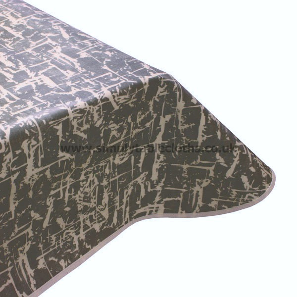Abstract Mellow Slate Oilcloth Tablecloth