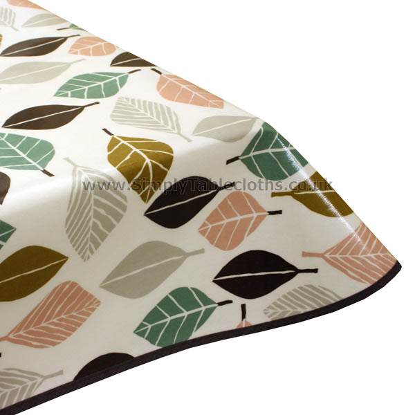 Fall Marshmallow Oilcloth Tablecloth