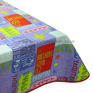 Birthday Oilcloth Tablecloth
