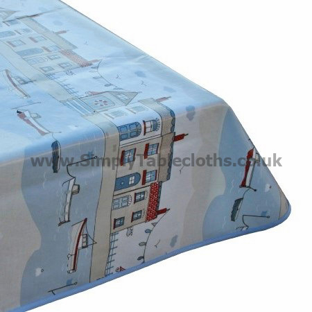 Beach Front Oilcloth Tablecloth