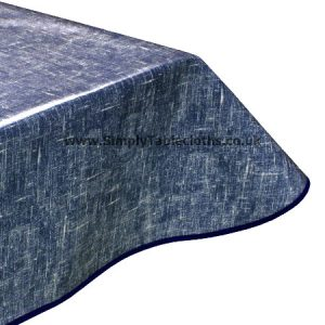 Linen Denim Matt Oilcloth Tablecloth