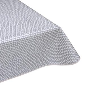 Spotty Grey Matt Oilcloth Tablecloth