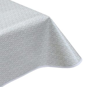 Diamonds Grey Oilcloth Tablecloth